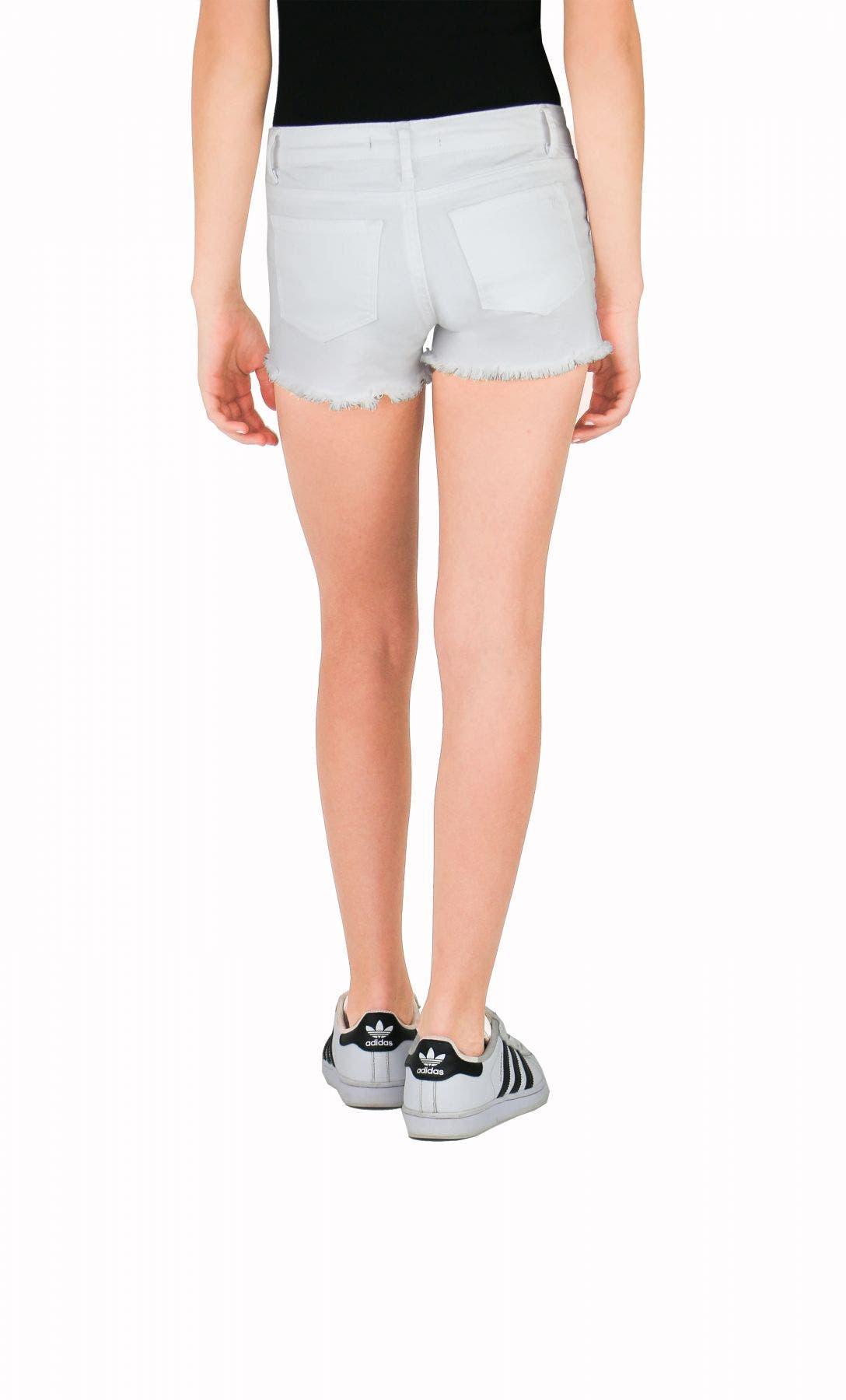 Tractr Girls Fray Hem Destructed Shorts
