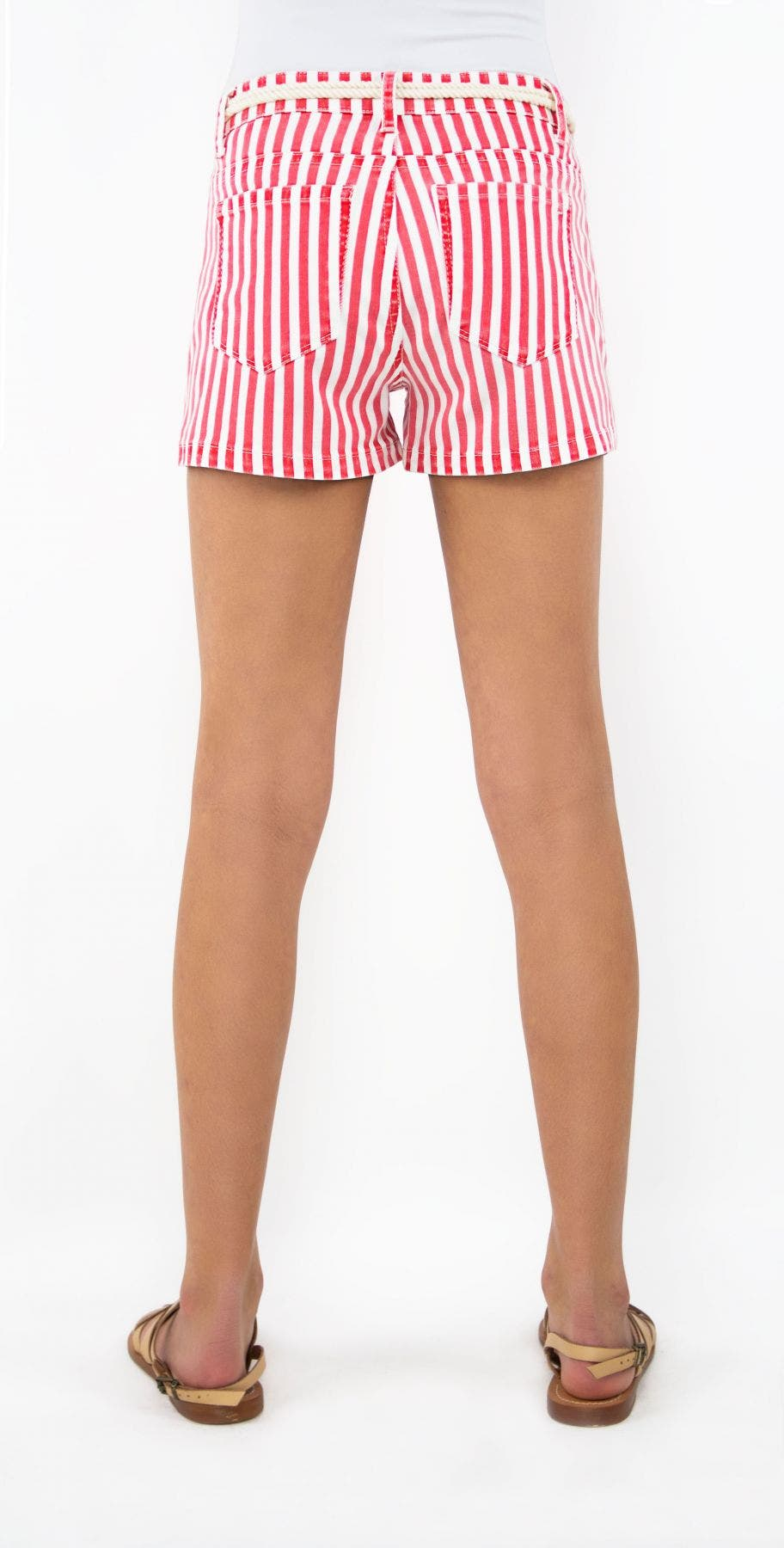 Tractr Girls Mid-Rise Nautical Short