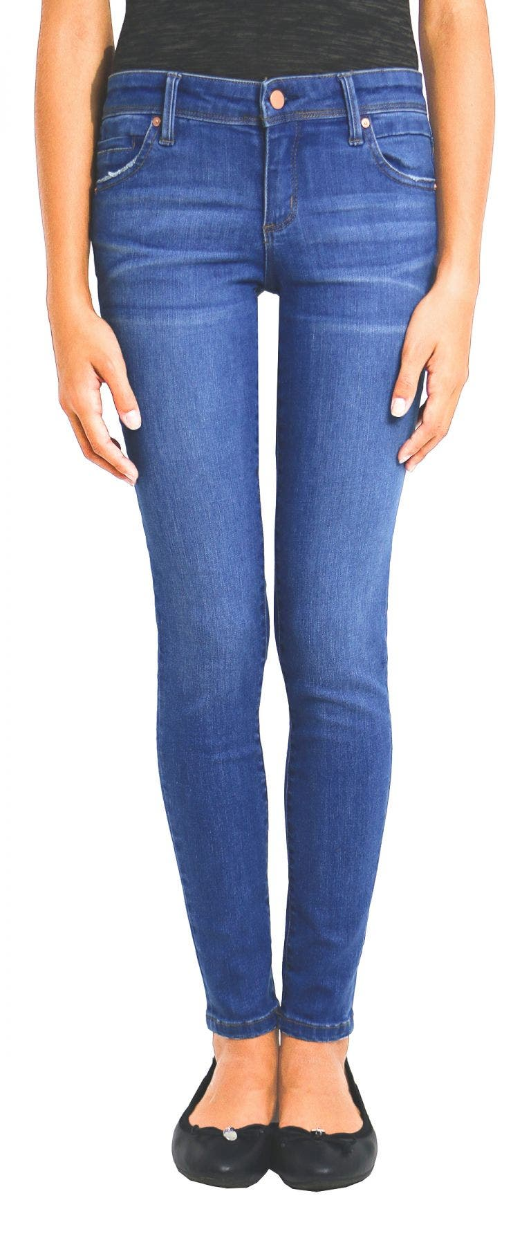 Tractr Girls Medium Wash Skinny Jeans