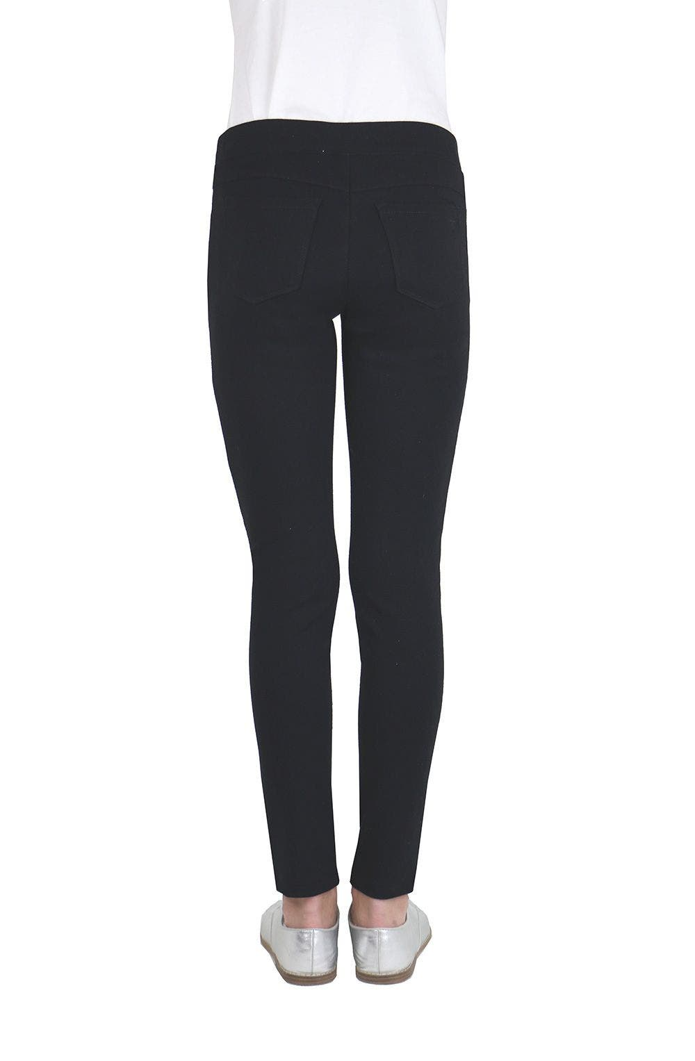 Pull On Ponte And Crackle Suede Legging