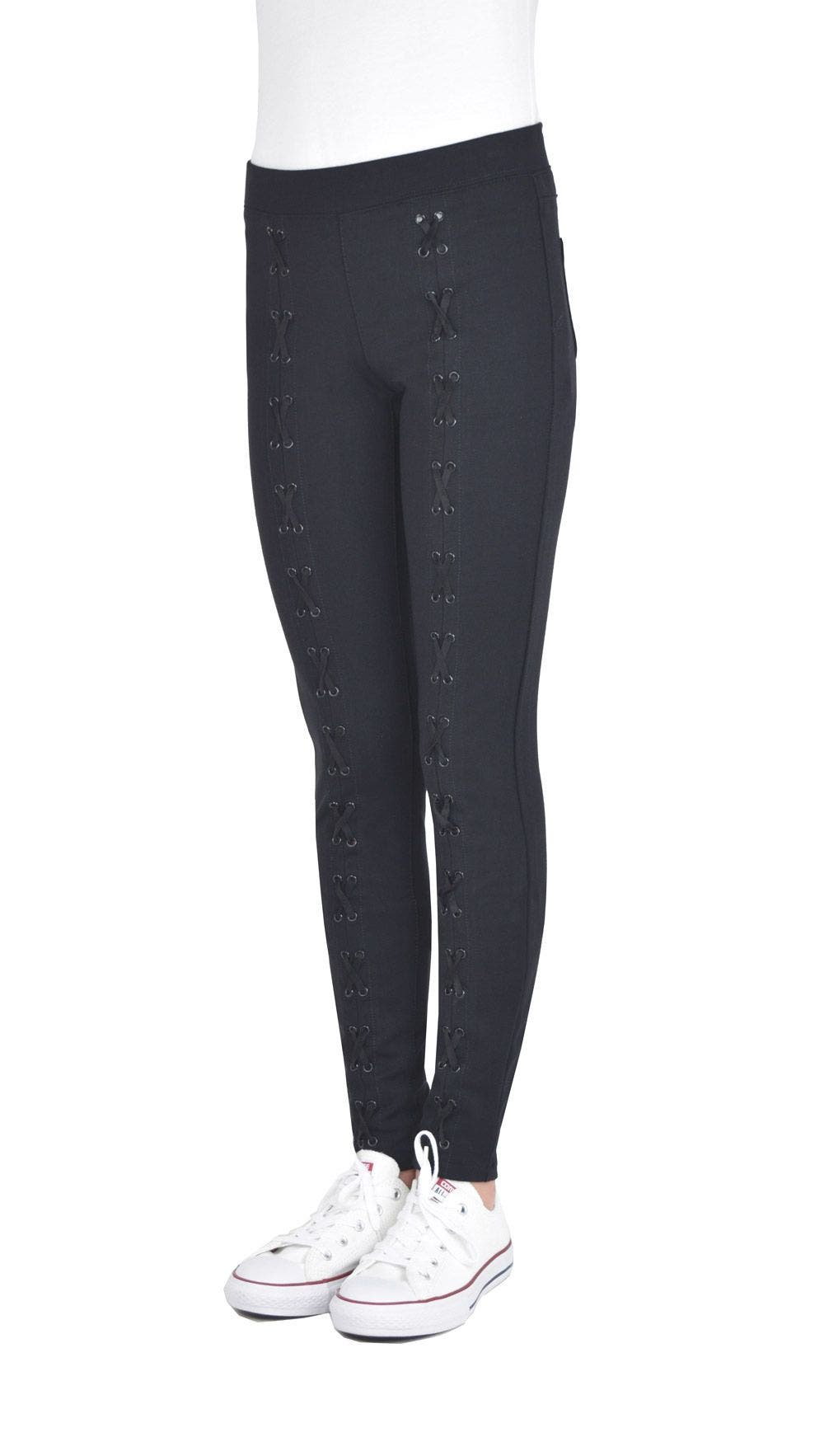 Pull On Lace Up Legging