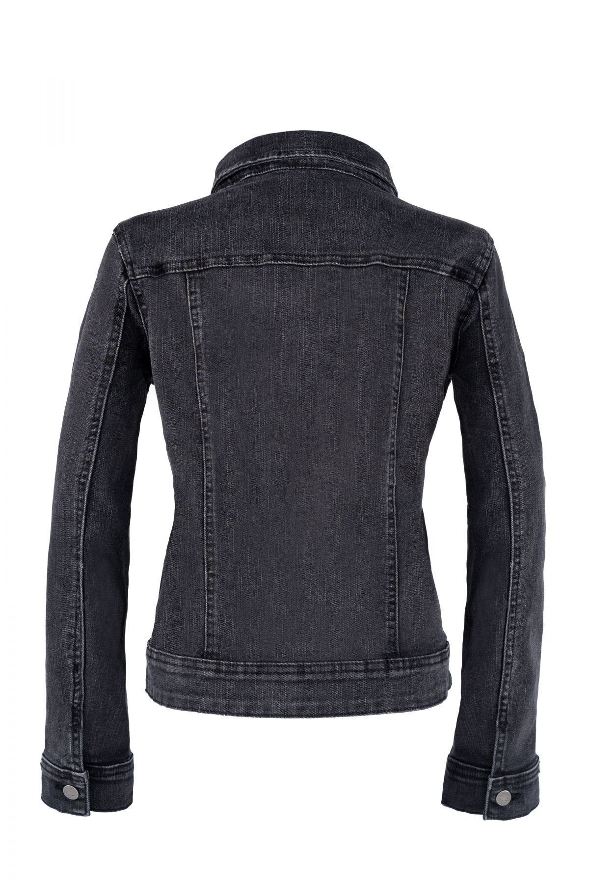 Basic Black Denim Jacket