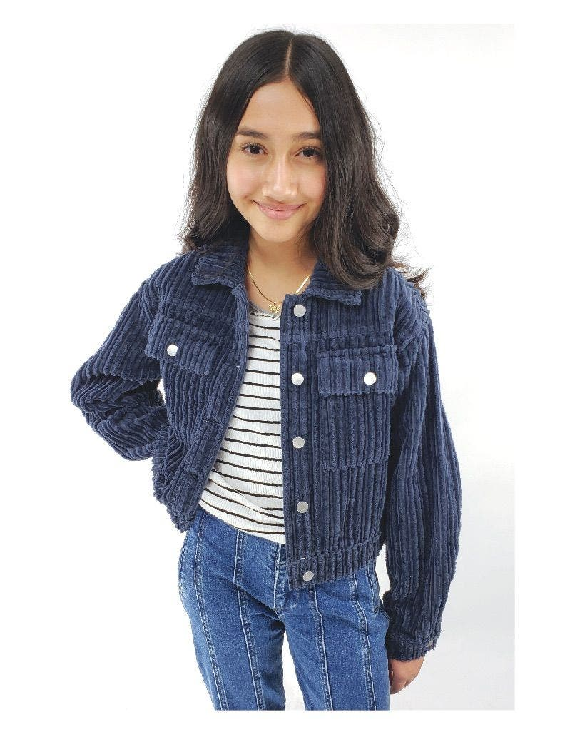 Patch Pocket Corduroy Crop Jacket