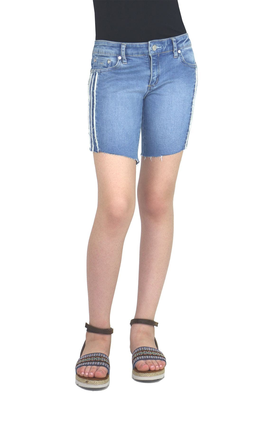 Side Fringe Bermuda Shorts
