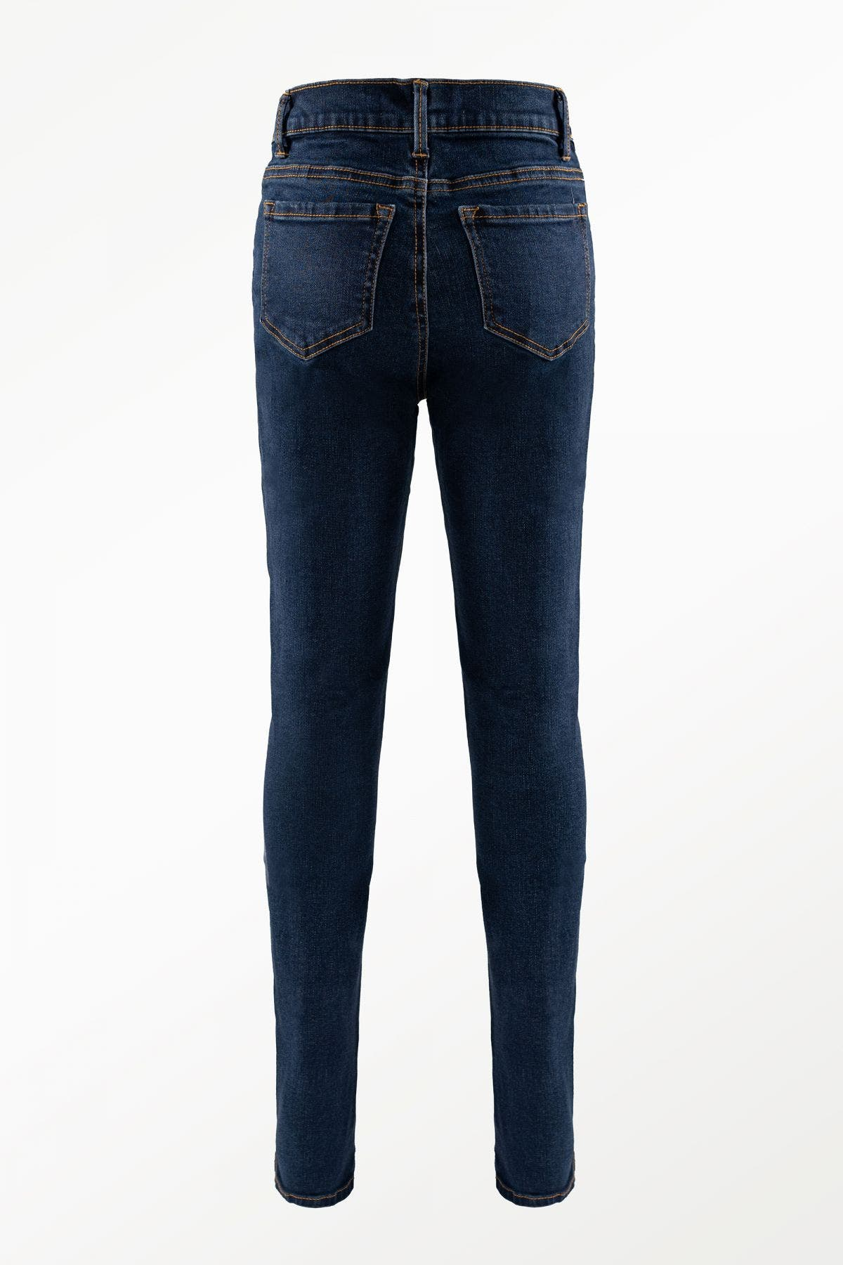 High Rise Color Block Forward Seam Ankle Skinny