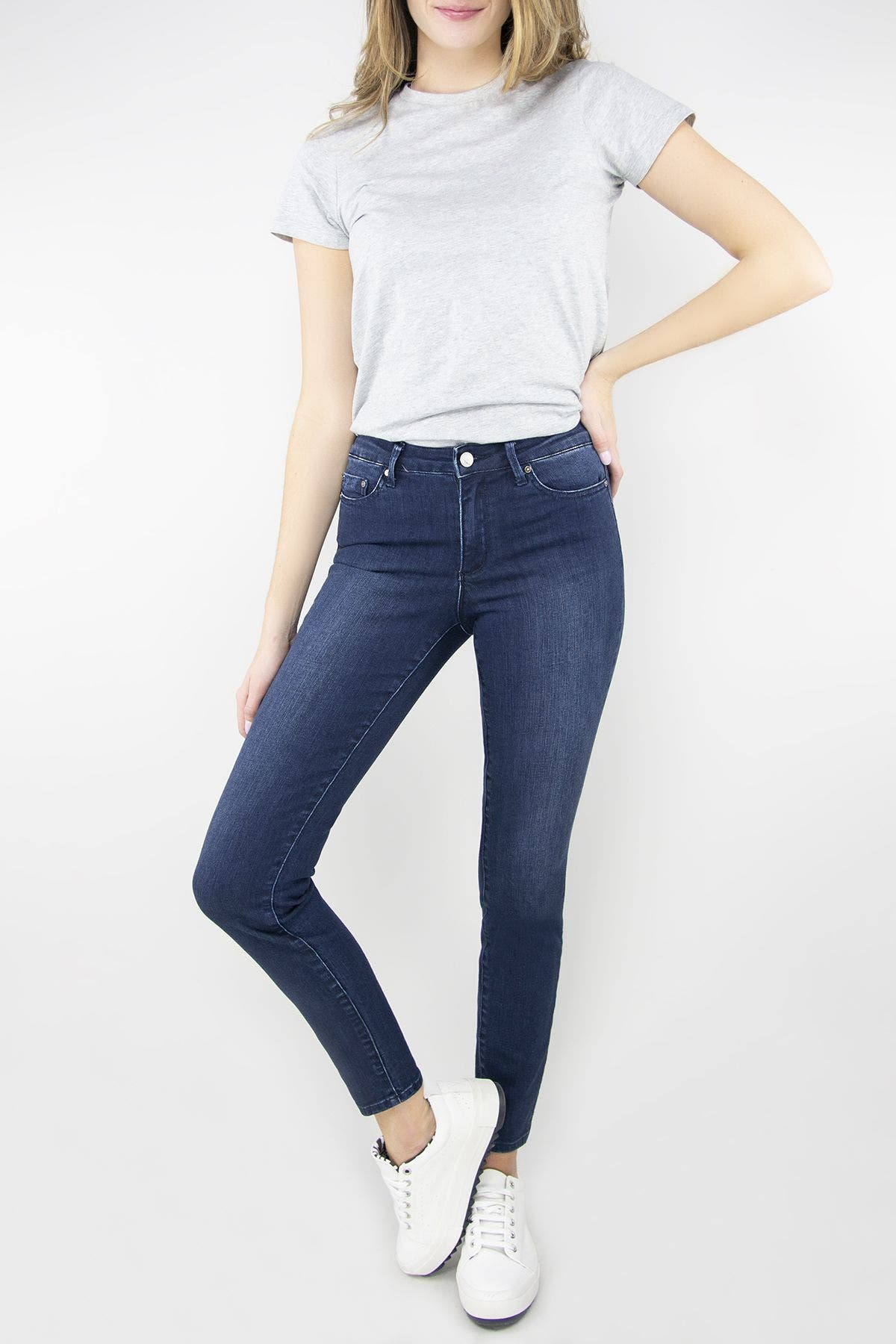 Nina Dark Wash High Waist Skinny