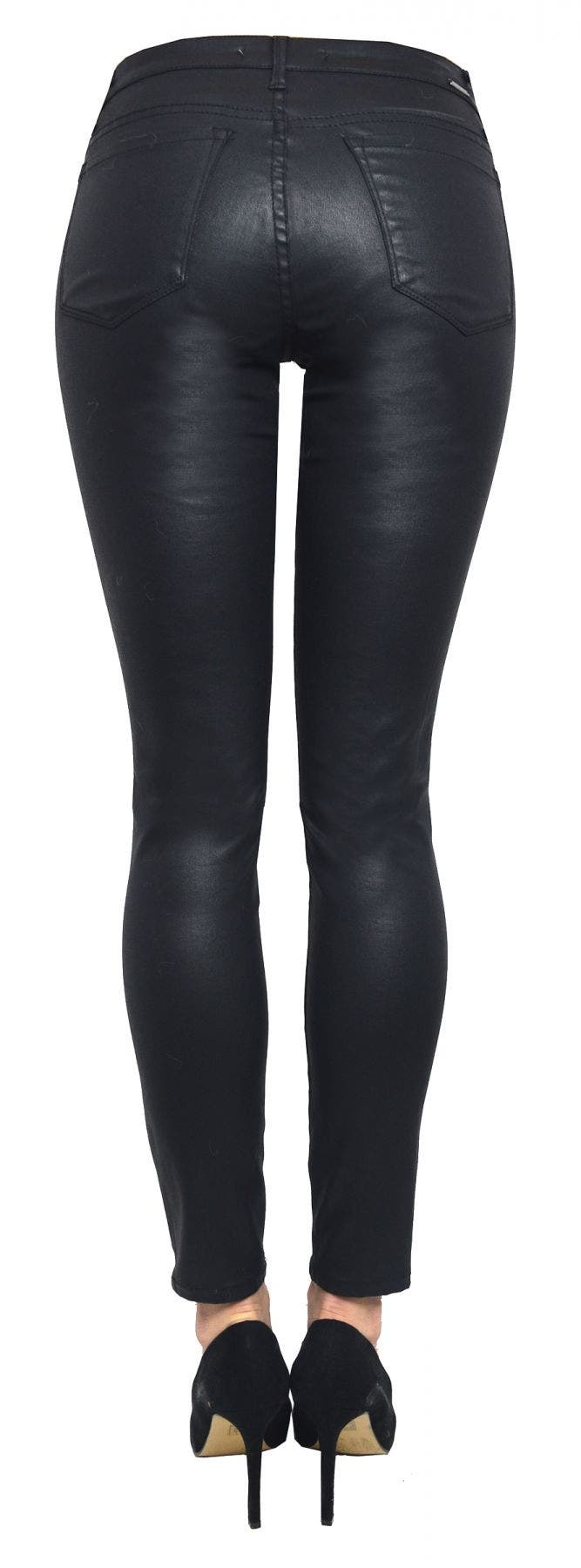 Tractr Jeans Vegan Leather Coated Skinny [Final Sale]
