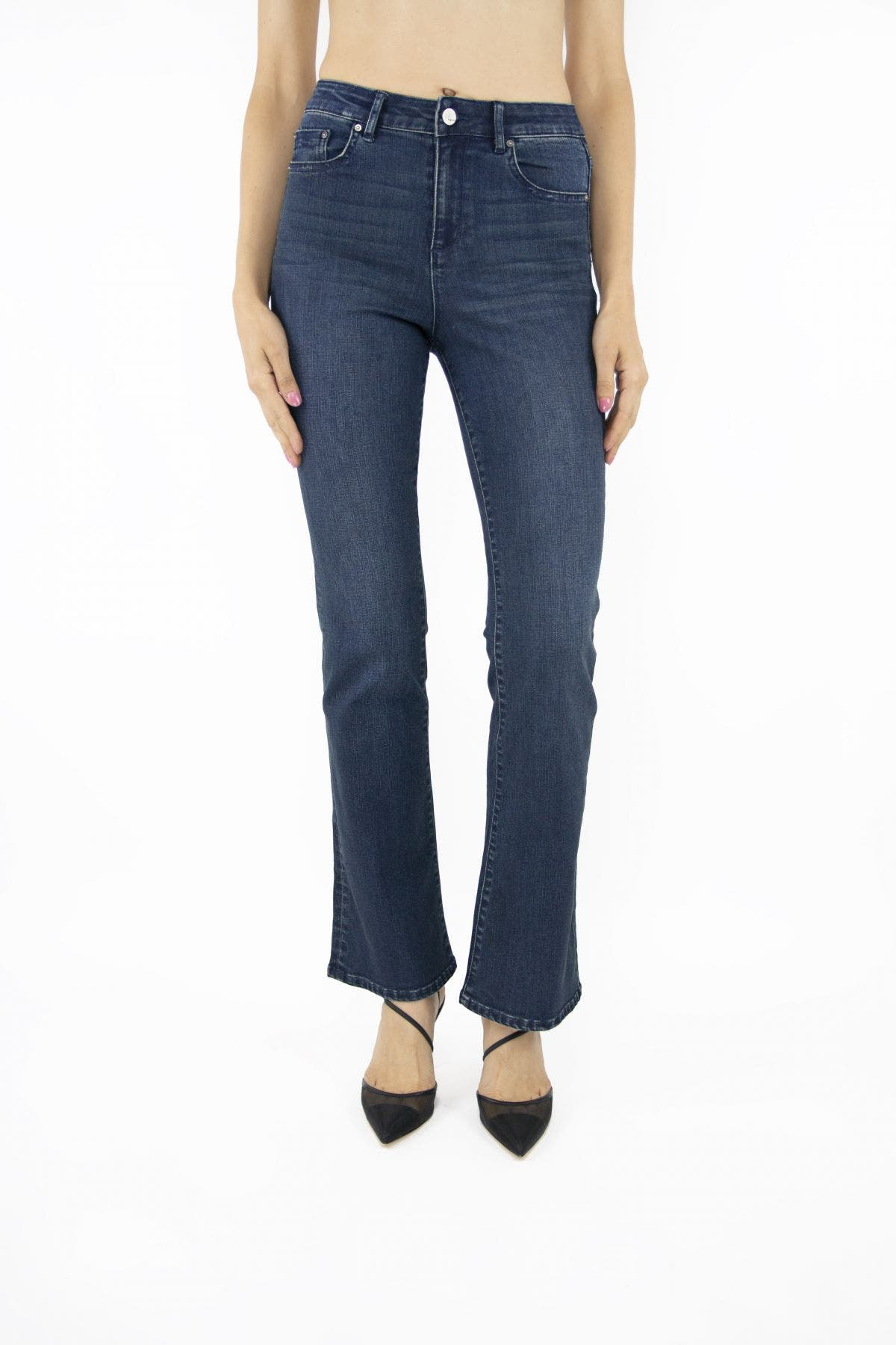 Tractr High Rise Bootcut Jeans