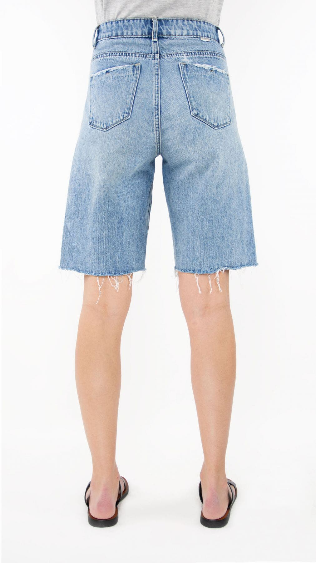 Tractr Jeans High-Rise Relaxed Bermuda Short