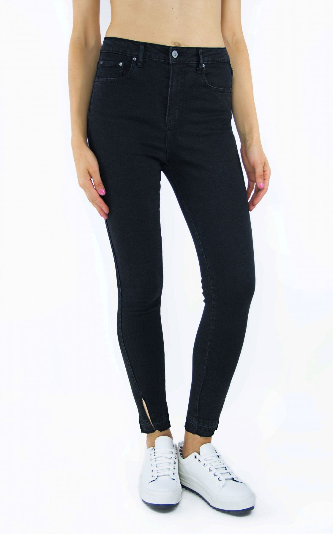 Tractr Jeans Ultra High-Rise Ankle Crop Skinny