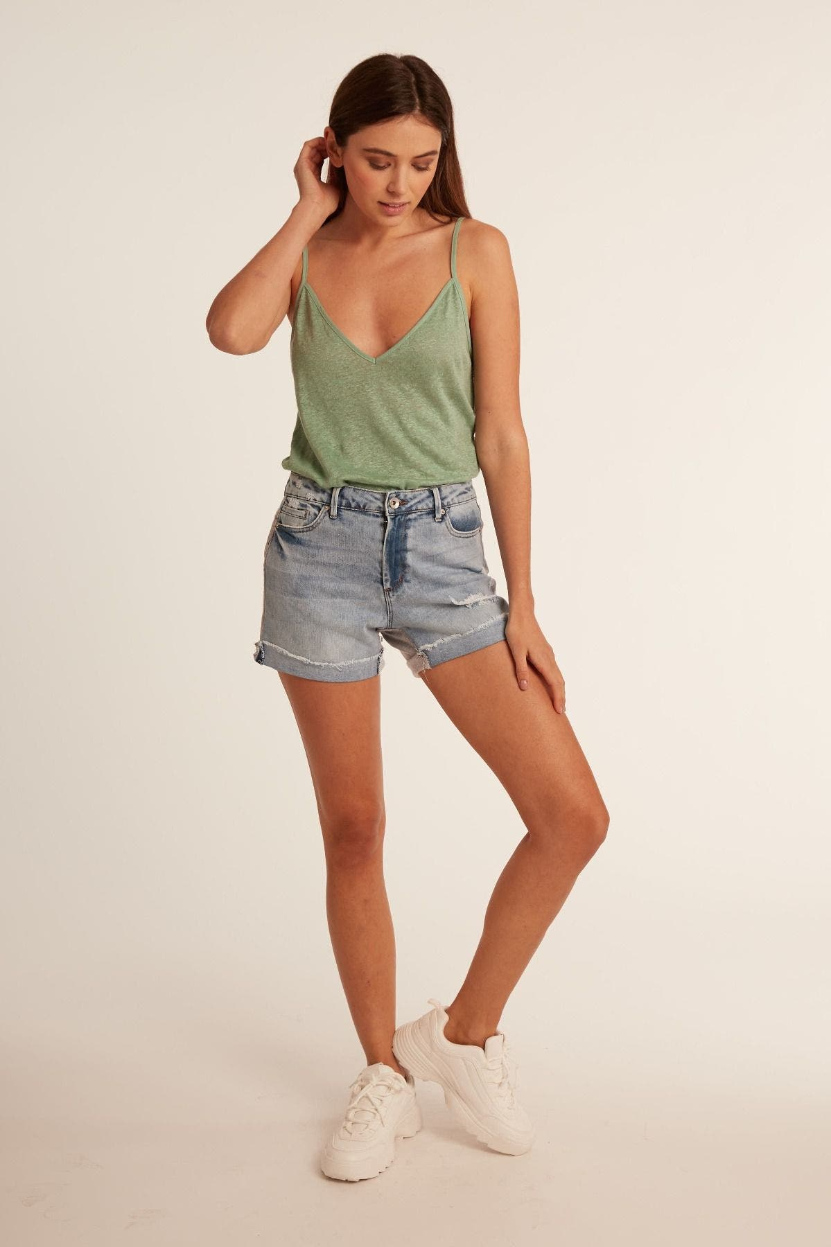 Relaxed Short With French Terry Back