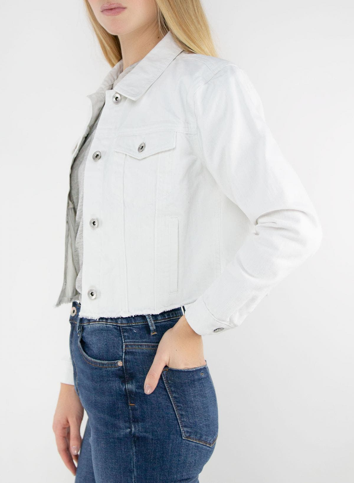Women Relaxed Fit Cropped Jacket