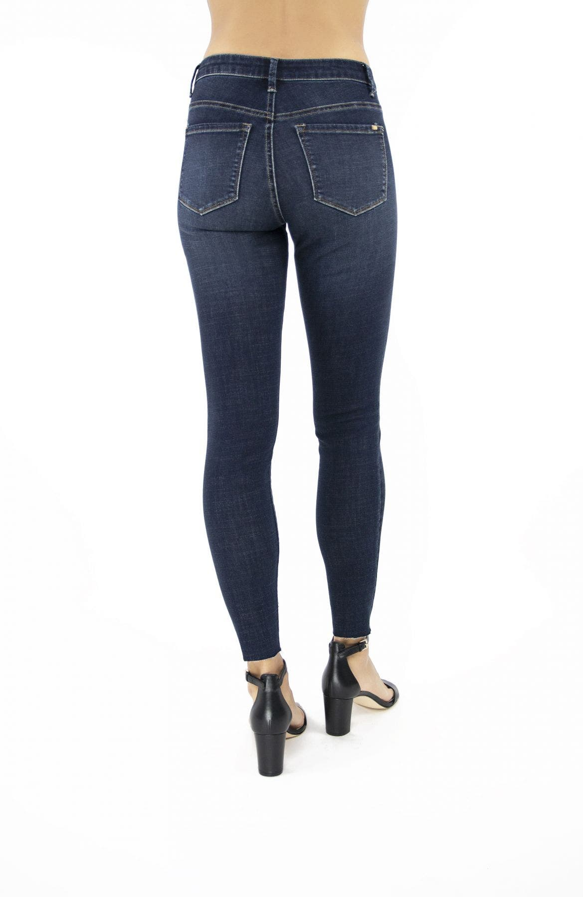 Tractr Blu Julia High-Rise Ankle Crop Skinny