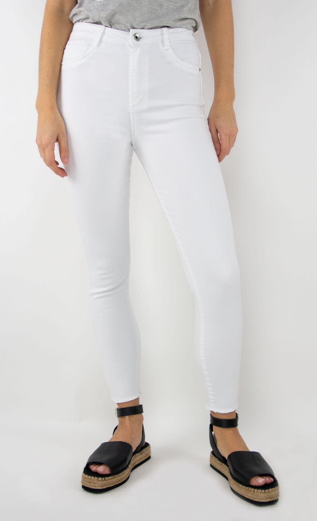 Ultra High Rise White Skinny