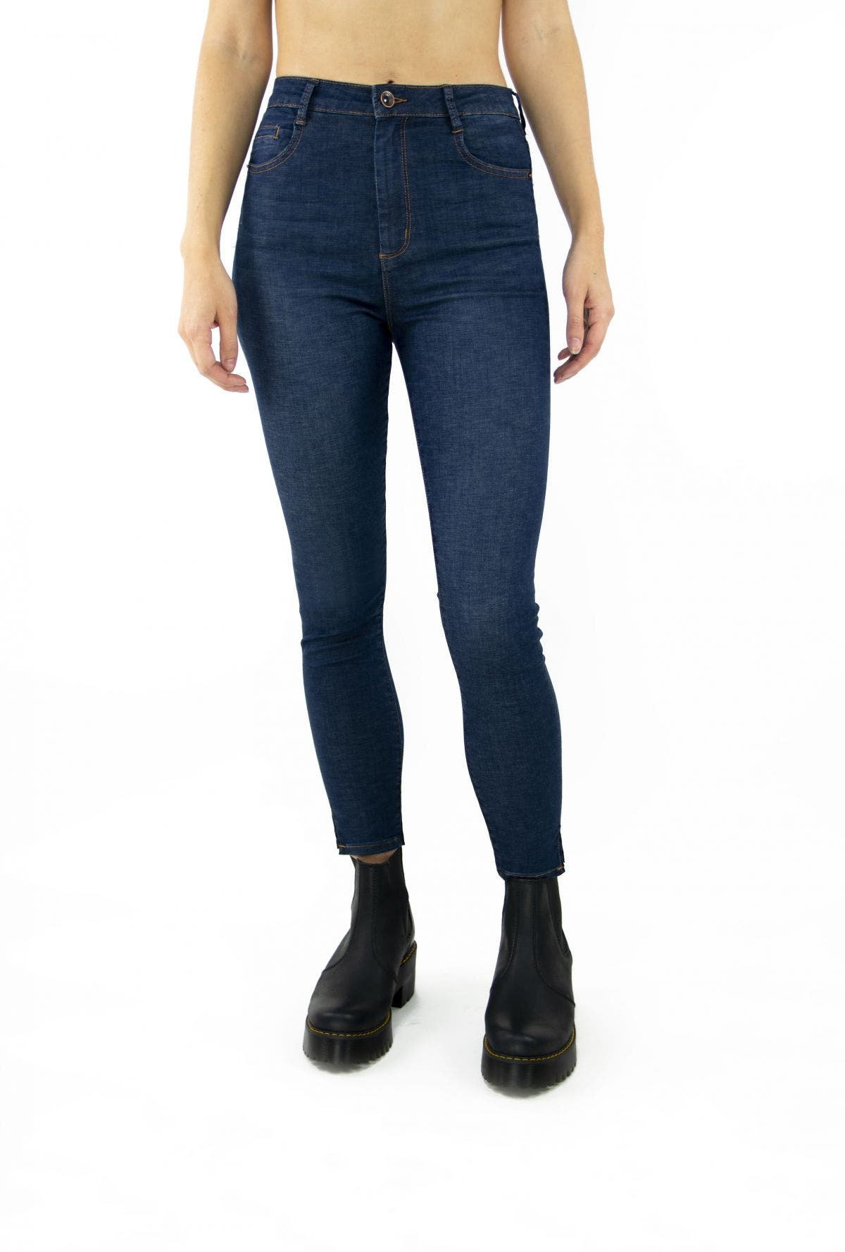 Tractr Blu Ultra High-Rise Ankle Crop Skinny