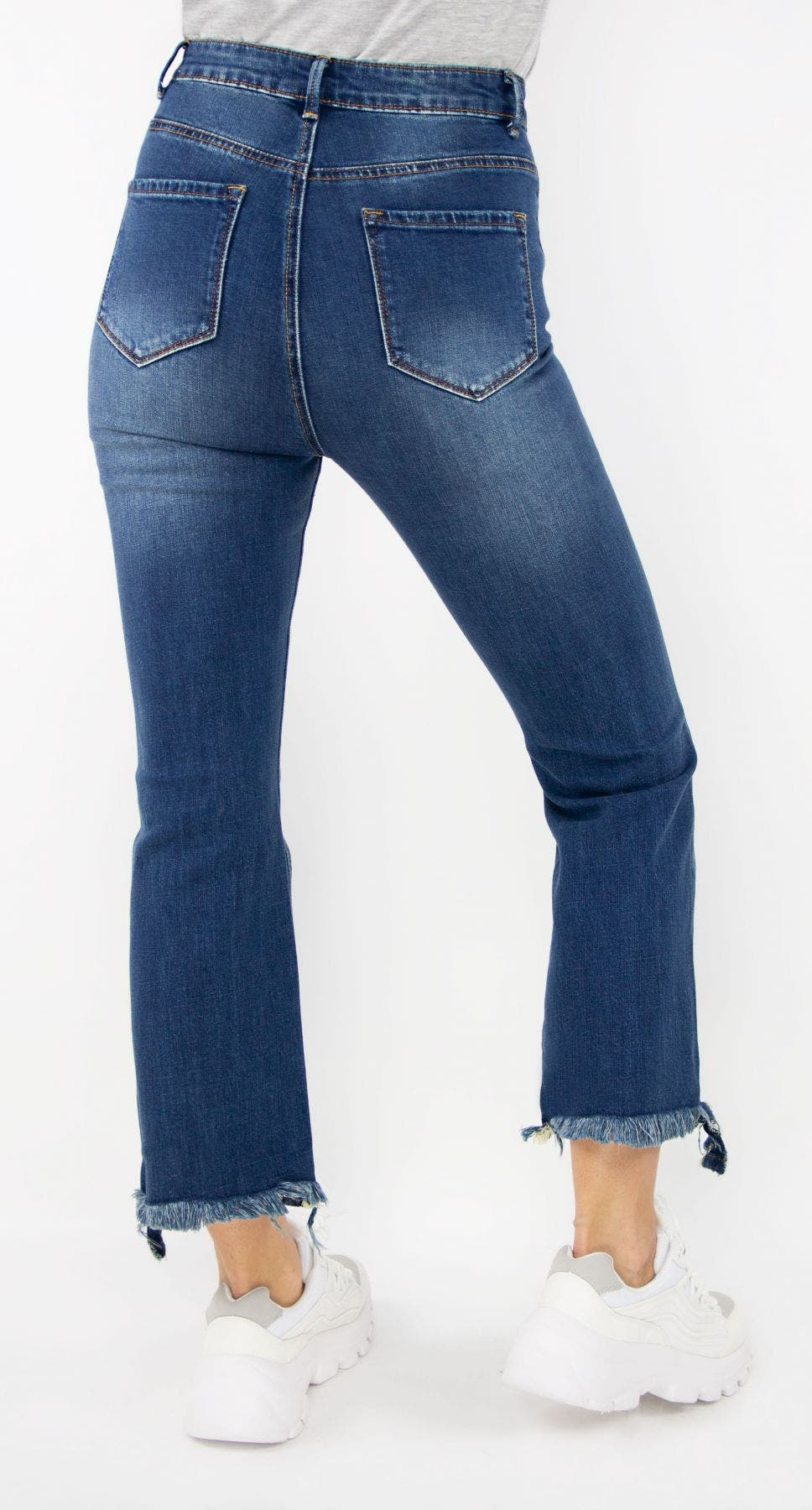 Tractr Blu Ultra High Rise Kick Flare Jeans