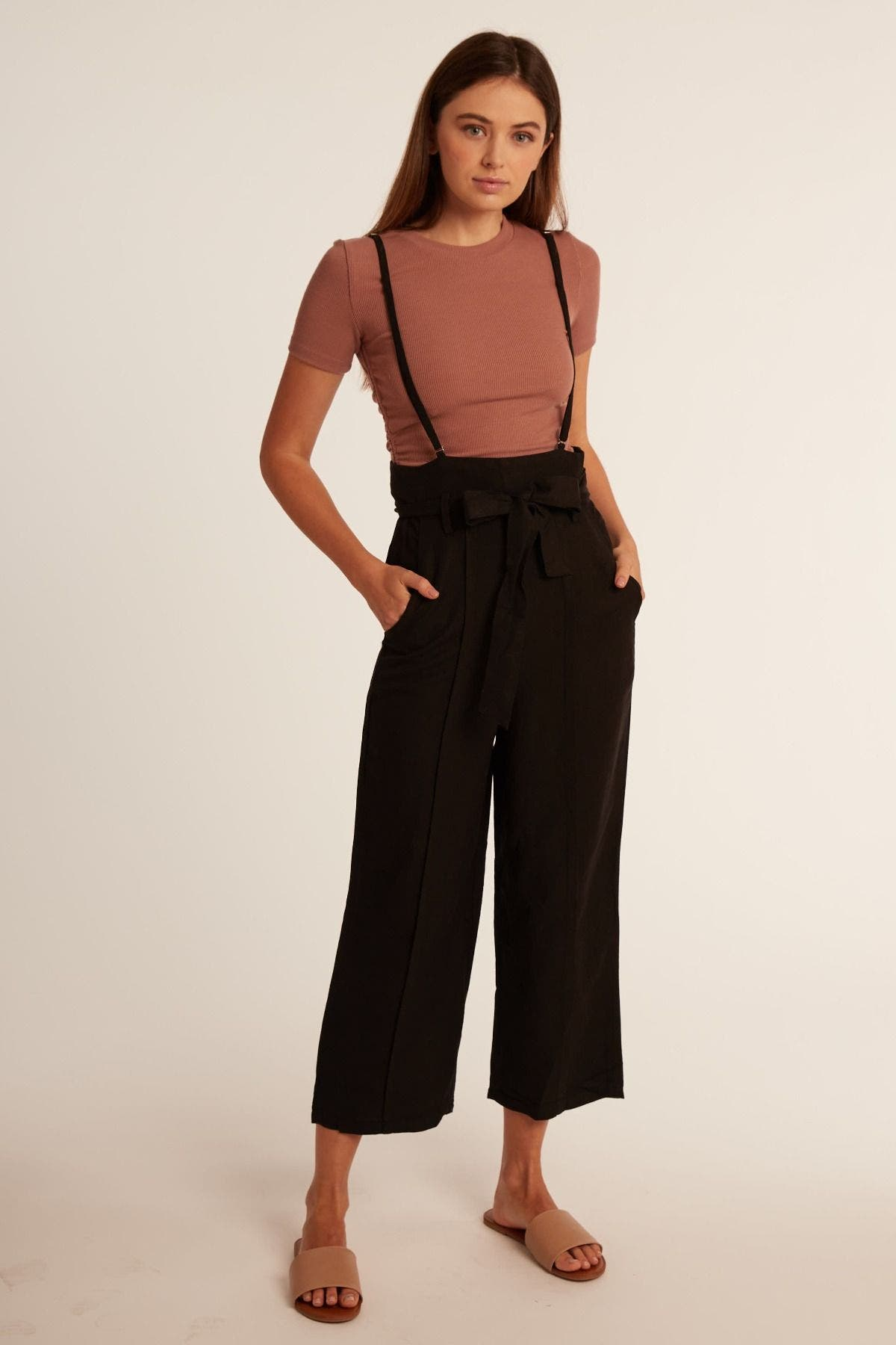 High Waisted Gaucho Jumpsuit