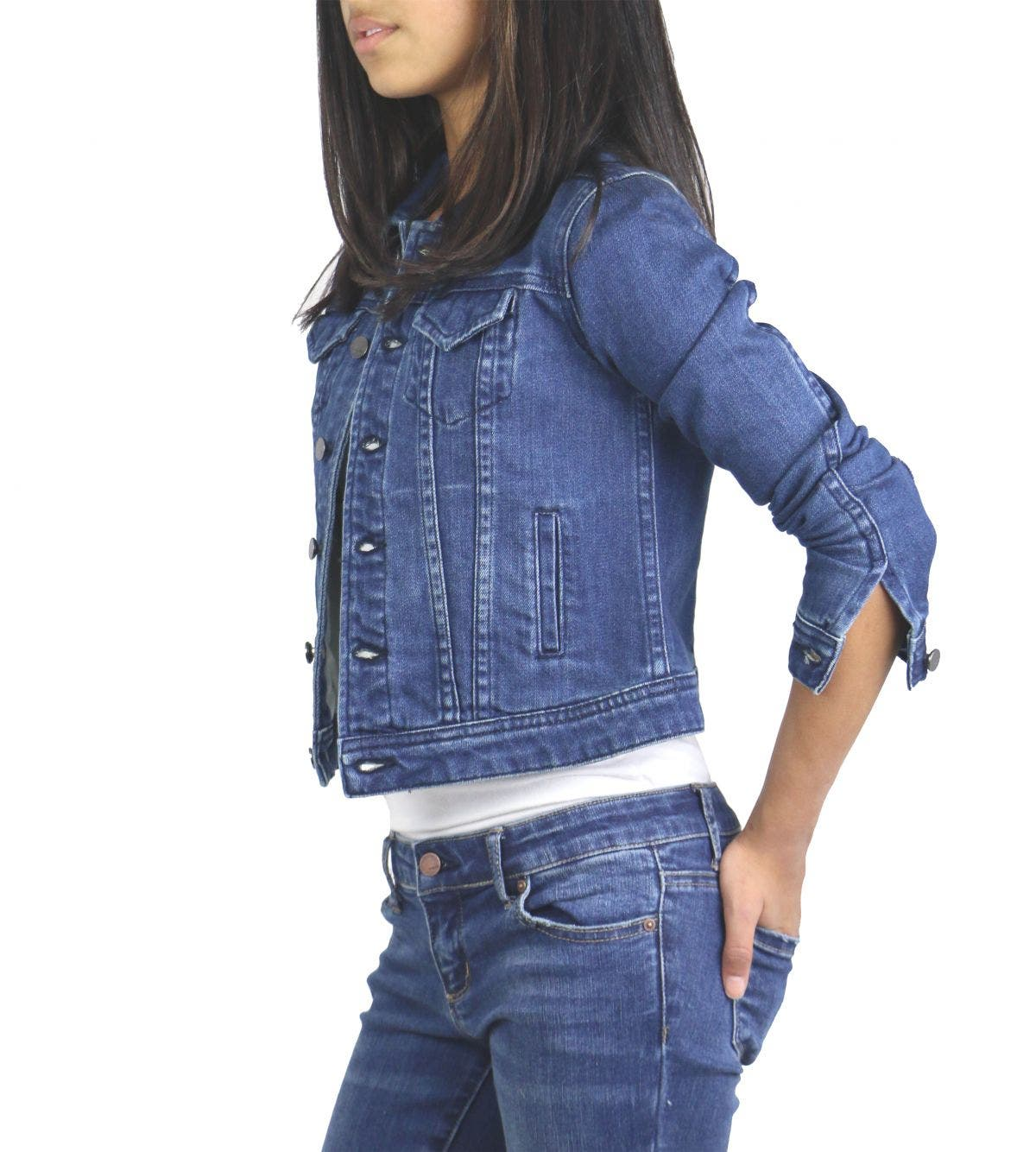 GIRLS GO TO BASIC DENIM JACKET